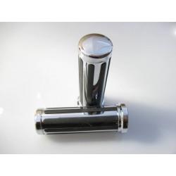 MANETKI KIEROWNICY 22mm - GUMOWE PASY CHROMOWANE