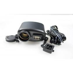 GNIAZDO ZAPALNICZKI ŁADOWANIA USB 12V 24V MOTOCYKL