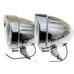 REFLEKTORY LIGHTBARY LAMPA PRZÓD 4,5 CALA CHROM