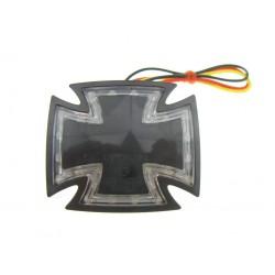 LAMPA TYLNA LED - GOTHIC - KRZYŻ MALTAŃSKI CZARNA