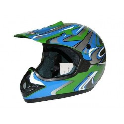 KASK CROSS ENDURO ATV QUAD CAN ZIELONY GREEN / SDL