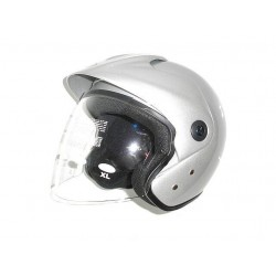 KASK POLOTWARTY SKUTER CHOPPER DRAG LIVWAT SREBRNY