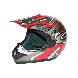 KASK CROSS ENDURO ATV QUAD CAN CZERWONY RED/SDH
