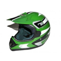 KASK CROSS ENDURO ATV QUAD CAN ZIELONY GREEN/AW