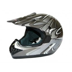 KASK CROSS ENDURO ATV QUAD CAN SZARY GREY/SDH