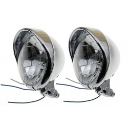 REFLEKTORY LIGHTBARY LAMPY PRZÓD 5,5 CALA CHROM