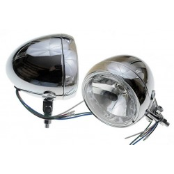 REFLEKTORY LIGHTBARY LAMPY PRZÓD 4,5 CALA CHROM