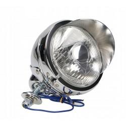 LAMPA LIGHTBAR CHROMOWANA 4,5 CALA Z DASZKIEM