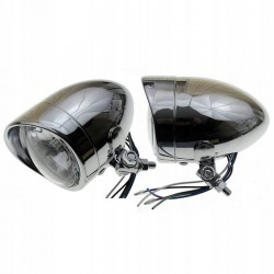 REFLEKTORY LIGHTBARY LAMPY PRZÓD 4 CALE CHROM