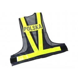 KAMIZELKA ODBLASKOWA MOTOCYKLOWA POLSKA XL