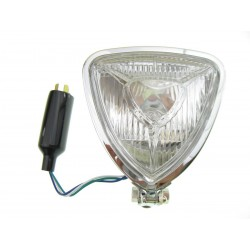 REFLEKTOR LIGHTBAR LAMPA PRZÓD TRÓJKĄTNA CHROM