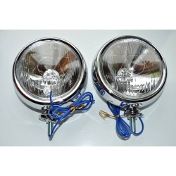 LAMPY LIGHTBARY CHROMOWANE 4,5 CALA KOMPLET